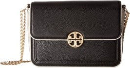 Tory Burch Duet Chain Large Convert Shoulder Bag, Black/Ivory - $306.90