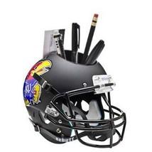 Kansas Jayhawks (Matte Black) NCAA Football TB Schutt Mini Helmet Desk Caddy - $21.95