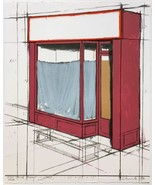 Christo 1980 Store Front Pop Mixed Media Collage S/N Pristine Ltd Ed of ... - $5,940.00
