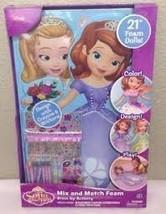 Disney Sofia the First Amber Mix and Match 21 Foam Dolls Dress up Activity Kit b - $15.79