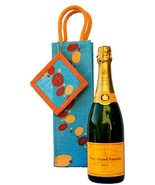 Jute Gift Bag Wine Champagne Eco-Friendly Burlap Bubble Pattern Reusable... - $7.91