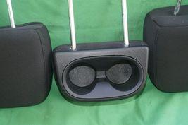 11-15 Dodge Journey 2nd Row Black Cloth 3 Headrests Headrest w/ Cupholder image 11