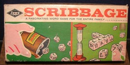 Vintage 1963 Scribbage Family Word / Dice Game by E.S Lowe ~ Made in the... - $14.84