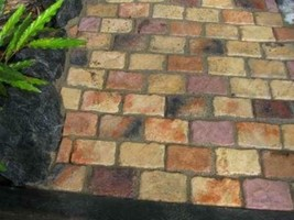 "BRICK PATIO GARDEN PAVER SUPPLIES KIT+ 24 MOLDS MAKE 4x8x1.5"" BRICKS, FREE SHIP image 2"