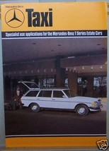 1982  MERCEDES 240 TD TAXI  OWNERS SALES BROCHURE W 123 SERVICE PARTS - $29.99
