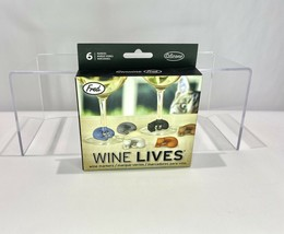 Fred Wine Lives Kitty Cat Wine Markers Set of 6 Multi-Color Glass Marker... - $7.81