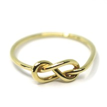 18K YELLOW GOLD INFINITE CENTRAL RING, INFINITY, SMOOTH, BRIGHT, KNOT DIAM. 5mm image 1