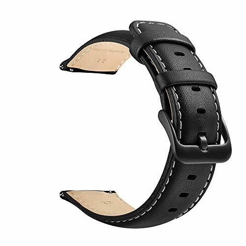 22mm Watch Strap, LEUNGLIK Quick Release Leather Watch Strap Replacement Bands w image 4