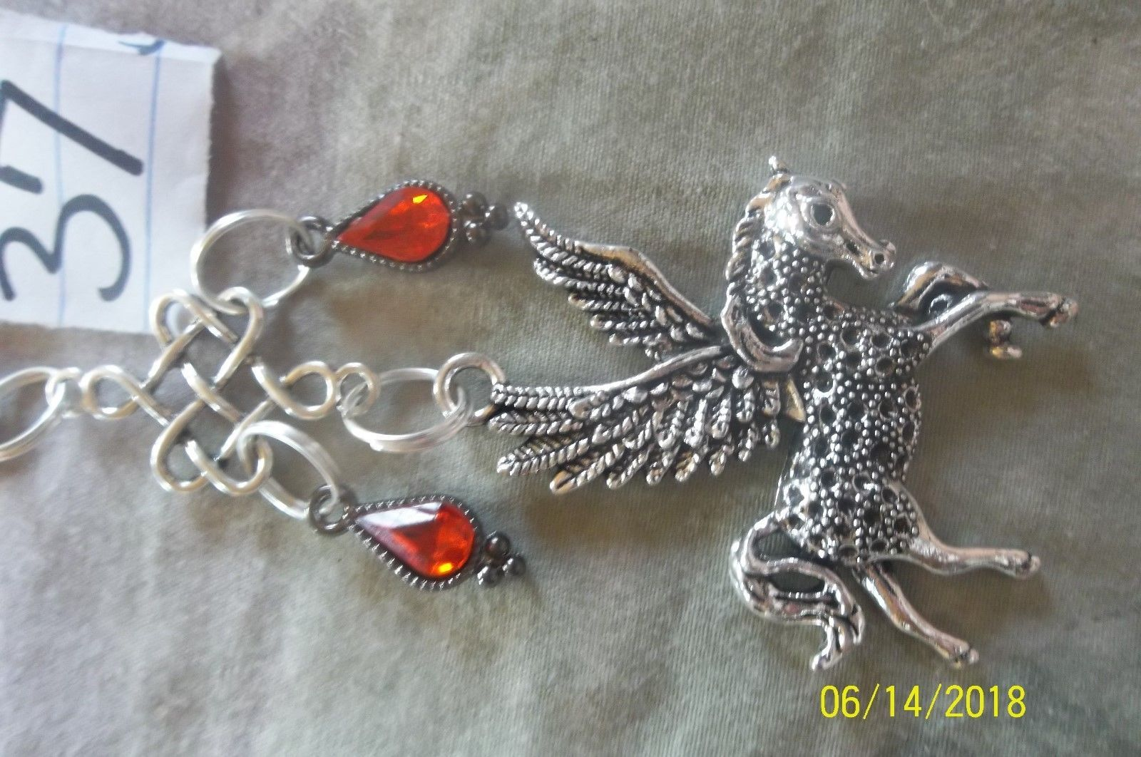 purse jewlrey pegasus unicorn beauty keychain backpack filigree dangle charm #37 image 5