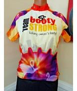 Atac Canada biking cycling jersey top yellow Booty Strong Cancer Women s... - $12.86
