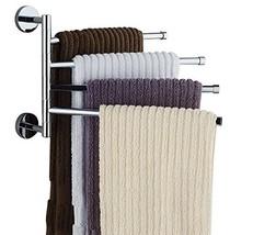 Bekith 16 inch Wall-Mounted Stainless Steel Swivel Bars Bathroom Towel R... - $24.18