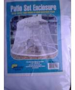 MOSQUITO MESH ENCLOSURE FITS 9 FOOT UMBRELLA. COVER NEW IN BAG WHITE. - $24.70