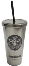 Starbucks Pike Place Stainless Steel Cold Cup 16 Ounce Tumbler Brand New - £39.96 GBP