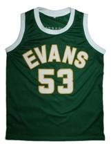 Darryl Dawkins Evans High School Basketball Jersey Sewn Green Any Size image 4