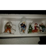 Dept.Department 56 Snow Village Skaters and Skiers 54755, Set Of 3 Handp... - $29.65