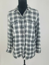 Madewell women S 'Kemp Plaid' Ex-Boyfriend shirt button down long sleeve - $39.60