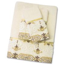 Popular Bath Savoy Bathroom 3 Piece Towel Set- Gold/Ivory - $38.49