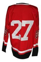 Custom Name # Cleveland Barons Retro Hockey Jersey New Red Meloche #27 Any Size image 2