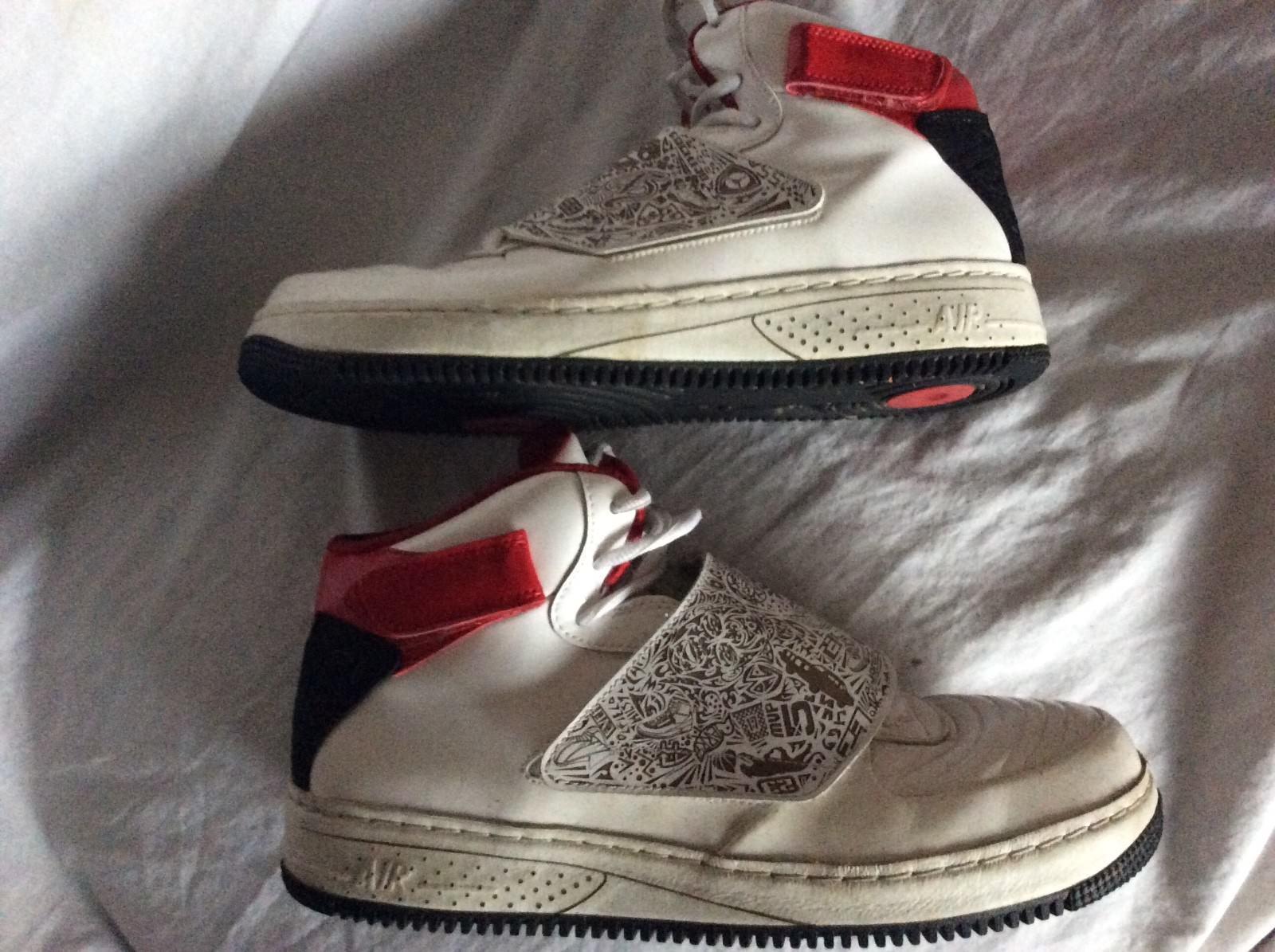 38126fe8a927 ... Nike Air Jordan Fusion AJF 20 White Red Black Shoes Sneakers 331823 101  U.S 13 ...