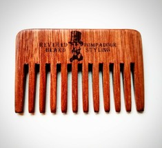 Streaker Comb. Wide toothed Pompadour Hair & Beard pocket Comb by Revere... - $6.33