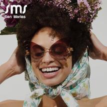 Sen Maries Butterfly Rimless Sunglasses Women Luxury Brand Designer Fashion Over image 4