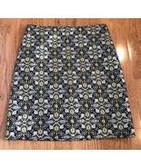 J.Mclaughlin Pencil Skirt Brocade Gold black 6 woven lined dot circle ca... - $19.77