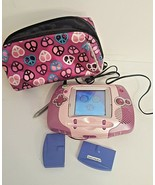 LeapFrog Leapster Learning Game System - Purple- Plus 3 Games!! - $19.79
