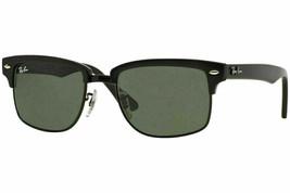 New Ray Ban Sunglasses RB4190 877 52 Glossy Black / Crystal / Green  52mm - $82.99
