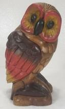 "Mid Century Carved Wood OWL 10"" tall - $69.99"