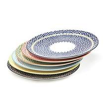 Bloom Flower 10.3 Inch Porcelain Plates Set for Dinner Pasta, Salad - 6 ... - $44.99