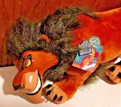 "LION KING Plush SCAR vinyl face stuffed animal 18"" long, Applause Disney w/tag - $199.99"