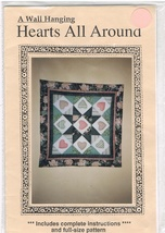 Hearts All Around Wall Hanging Craft Pattern - $6.99