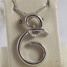 SOLID 18K WHITE GOLD NECKLACE WITH TRIBAL PENDANT DIAMONDS DIAMOND MADE IN ITALY image 1