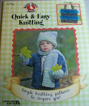 Leisure Arts Quick & Easy Knitting Simple Inspirational Book Gooseberry ... - $12.71
