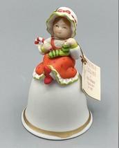 Holly Hobbie Christmas Dreams Figurine Bell - $14.00