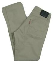 """Levi's 511 Slim Fit Tapered Leg Beige Jeans Boys Size 16 Reg Waist 28"""" X... - $24.70"""
