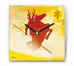 Sengoku Design Fabric Wall clock Interior Tadakatu Honda - $99.99