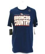 Nike NFL Denver Broncos Blue Broncos Country Crew Neck Tee T-Shirt Men's NWT - $37.49