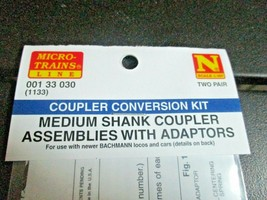 Micro-Trains Stock # 00133030 (1133) (Medium Shank Couplers for Bachmann 2 Pair image 2