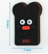 Brunch Brother popped Eye Handheld Mirror Makeup Travel Hand Mirror(Burnt Toast) image 5