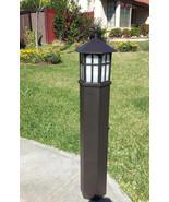 3 Foot Metal Bronze Outdoor Post Path Light Landscape Exterior Progress ... - $124.64