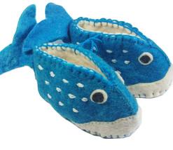 Whale Zooties Baby Booties Silk Road Bazaar 6-12 month Slippers Shoes In... - $24.74