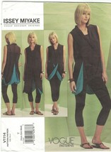 Vogue 1114 Issey Miyake Draped Top & Leggings Pattern Size XS Sm Med Uncut - $19.59