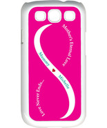 Fuchsia Pink & White Mother's Love with Teal Names Samsung Galaxy S3 Cas... - $15.95