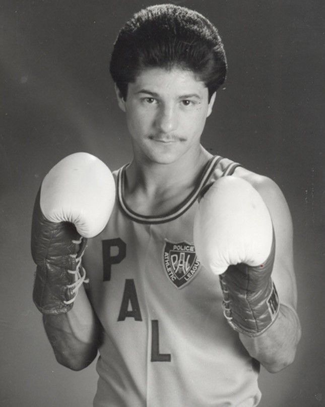 JOHNNY TAPIA 8X10 PHOTO BOXING PICTURE POLICE ATHLETIC LEAGUE PAL