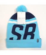 Nike SB Signature Blue Knit Cuff Beanie with Pom Pom Adult One Size NWT - $29.69