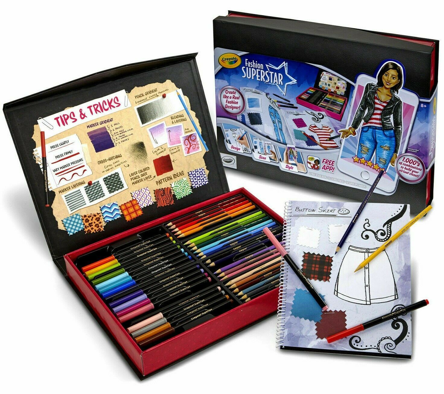 Crayola Fashion Super Star Build Your Virtual Closet Set Design Scan Style w App