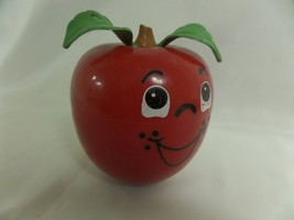 Infant Baby Nursery Fisher Price Musical Chime Happy Apple Toy 1972 Shor... - $24.93