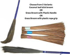 Jhadu Indian Traditional Home Cleaning Broom 3 Variants Assorted Color image 1