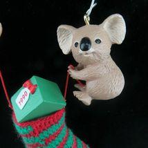 Vintage Koala Christmas Stocking Ornament Hallmark Keepsake 1990 image 3